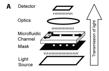 Infochemistry: encoding information as optical pulses using droplets in a microfluidic device