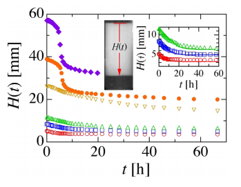 Gravitational stability of suspensions of attractive colloidal particles.