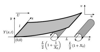 Fluid-flow induced flutter of a flag